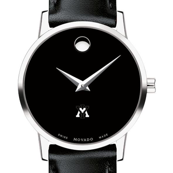 Virginia Military Institute Women's Movado Museum with Leather Strap