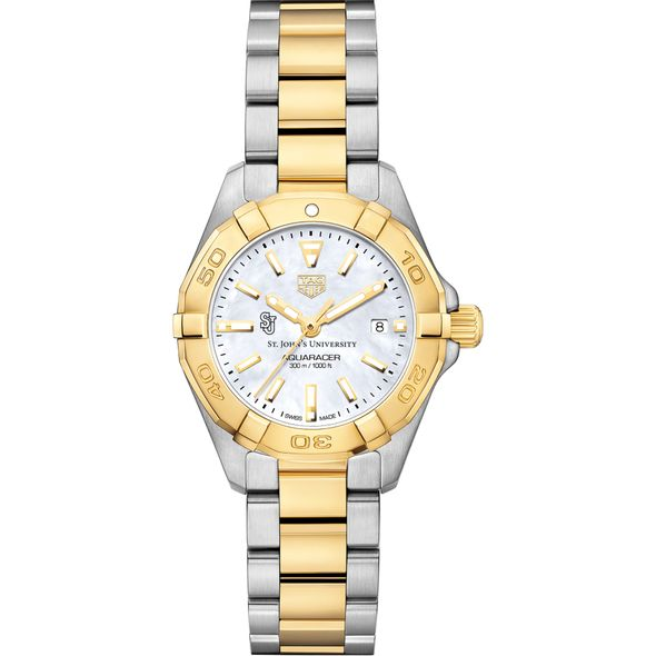 St. John's University TAG Heuer Two-Tone Aquaracer for Women - Image 2