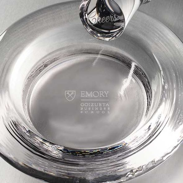 Emory Goizueta Glass Wine Coaster by Simon Pearce - Image 2