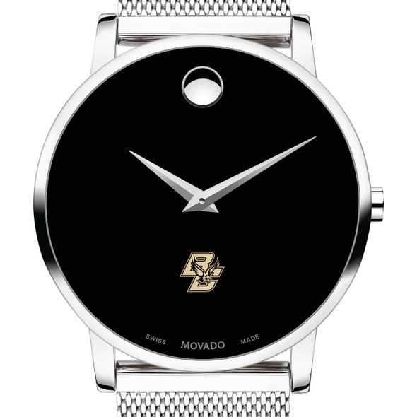 Boston College Men's Movado Museum with Mesh Bracelet
