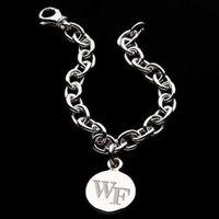 Wake Forest Sterling Silver Charm Bracelet