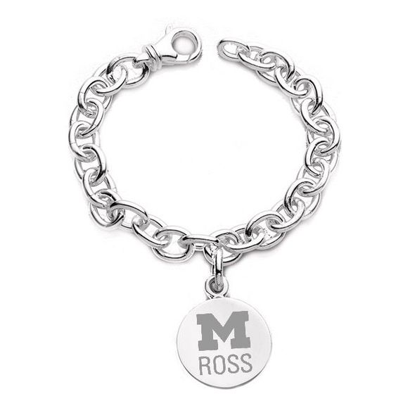 Michigan Ross Sterling Silver Charm Bracelet - Image 1