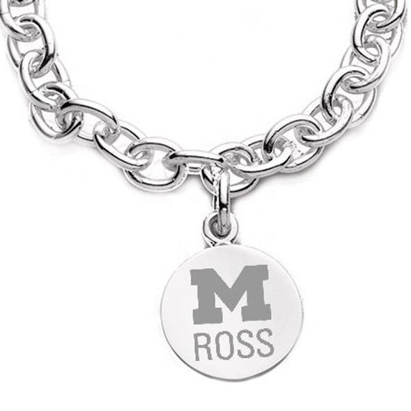 Michigan Ross Sterling Silver Charm Bracelet - Image 2