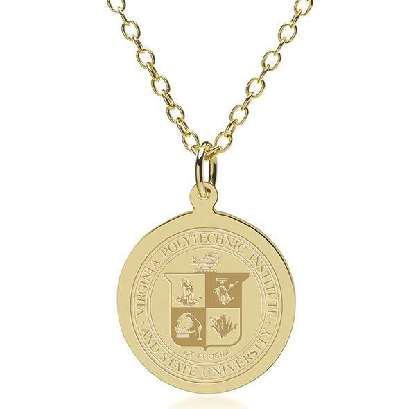 Virginia Tech 18K Gold Pendant & Chain