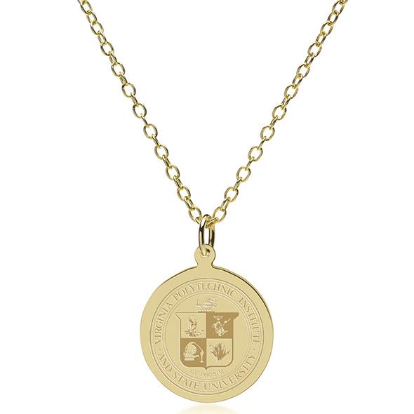 Virginia Tech 18K Gold Pendant & Chain - Image 2