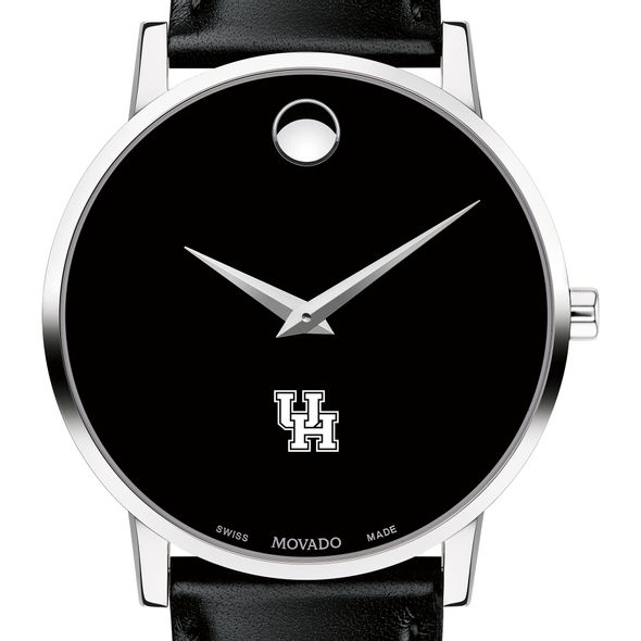 Houston Men's Movado Museum with Leather Strap - Image 1