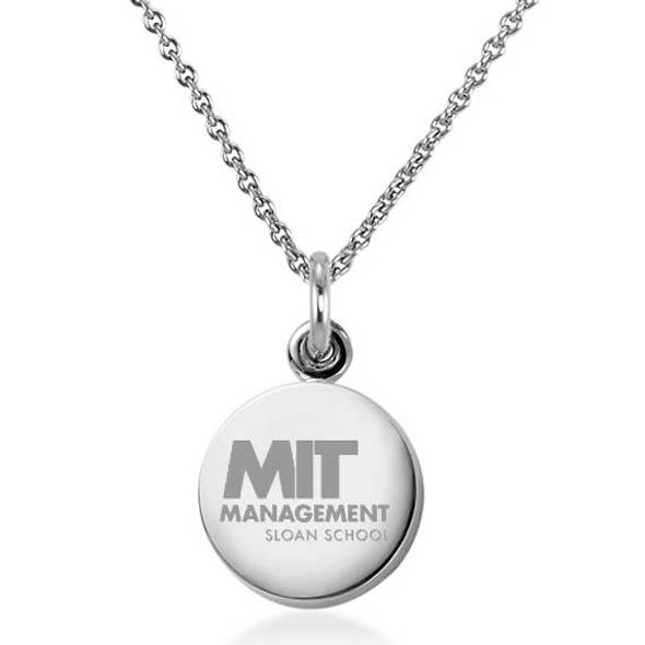 MIT Sloan Necklace with Charm in Sterling Silver - Image 1