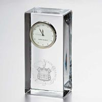 Trinity College Tall Glass Desk Clock by Simon Pearce