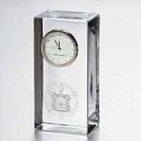 Trinity College Tall Glass Desk Clock by Simon Pearce