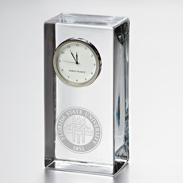 Florida State Tall Glass Desk Clock by Simon Pearce - Image 1