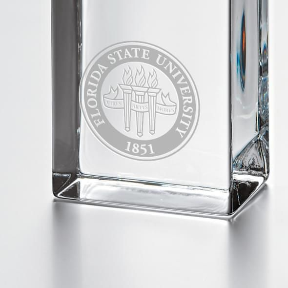 Florida State Tall Glass Desk Clock by Simon Pearce - Image 2