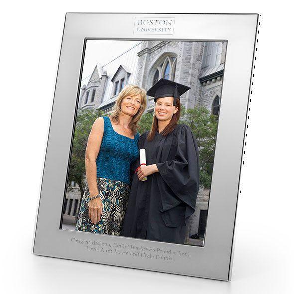 Boston University Polished Pewter 8x10 Picture Frame