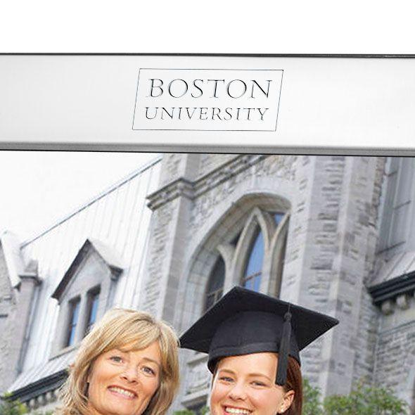 Boston University Polished Pewter 8x10 Picture Frame - Image 2