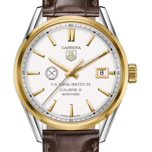 US Naval Institute Men's TAG Heuer Two-Tone Carrera with Strap