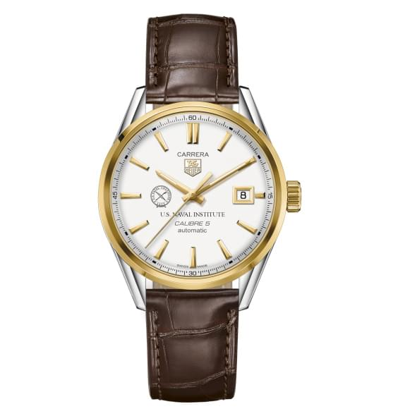 US Naval Institute Men's TAG Heuer Two-Tone Carrera with Strap - Image 2