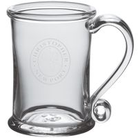 Christopher Newport University Glass Tankard by Simon Pearce