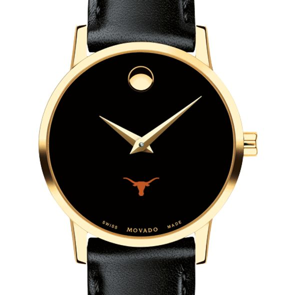 University of Texas Women's Movado Gold Museum Classic Leather