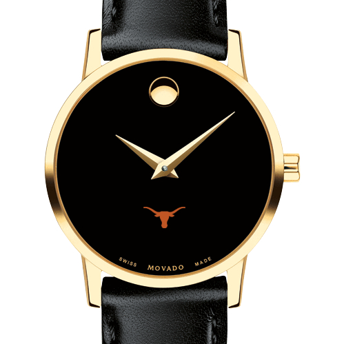 Texas Women's Movado Gold Museum Classic Leather