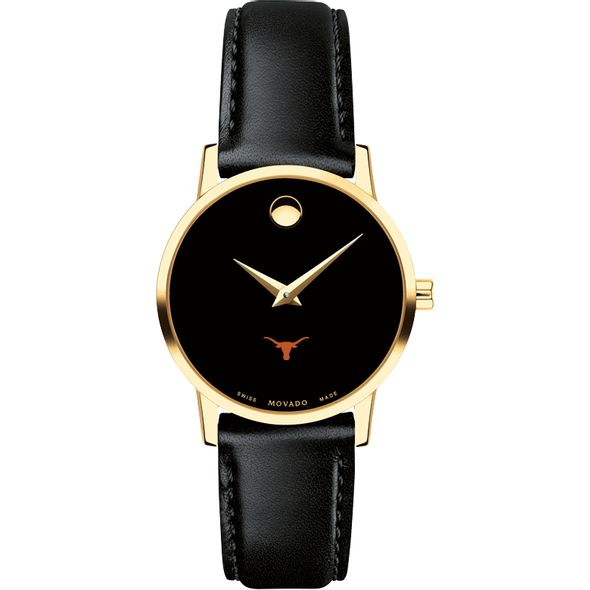 University of Texas Women's Movado Gold Museum Classic Leather - Image 2