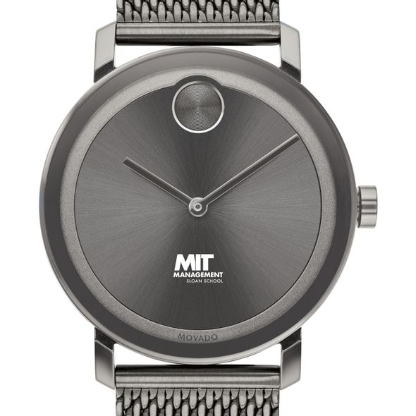 MIT Sloan School of Management Men's Movado BOLD Gunmetal Grey with Mesh Bracelet - Image 1