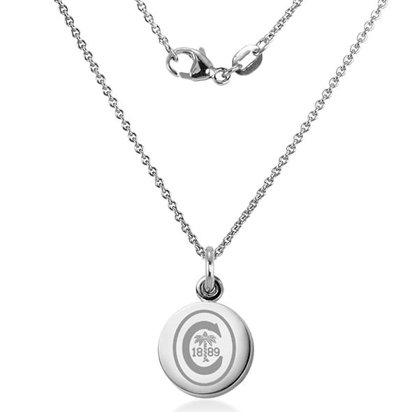 Clemson Necklace with Charm in Sterling Silver - Image 2