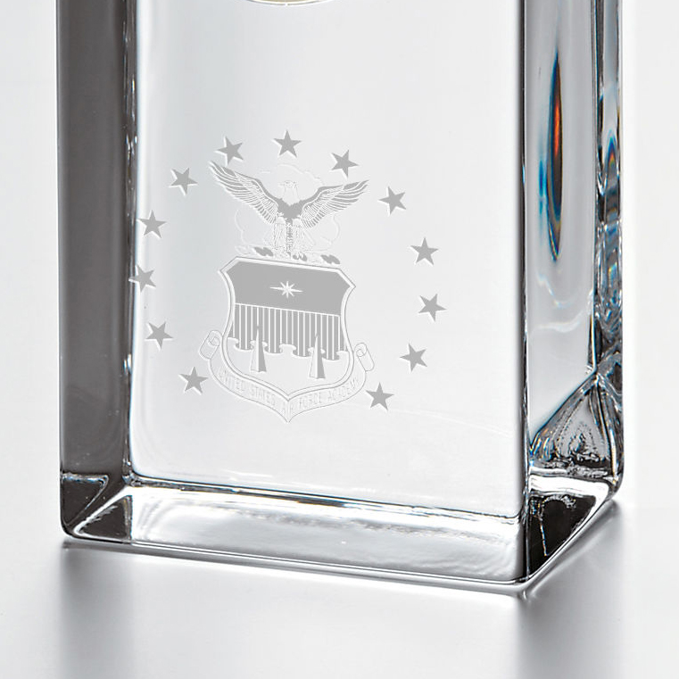 USAFA Tall Glass Desk Clock by Simon Pearce - Image 2