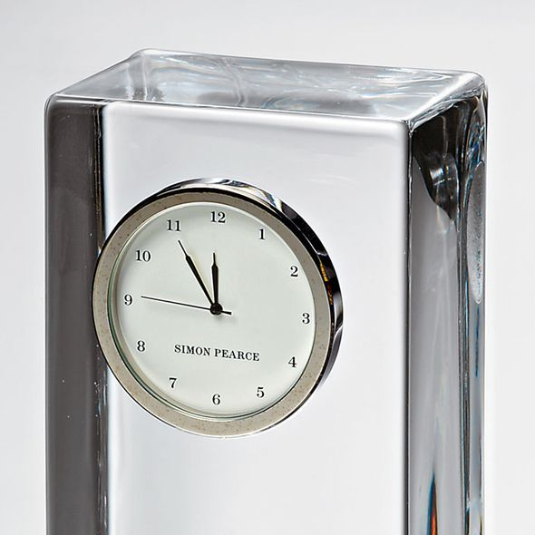 USAFA Tall Glass Desk Clock by Simon Pearce - Image 3