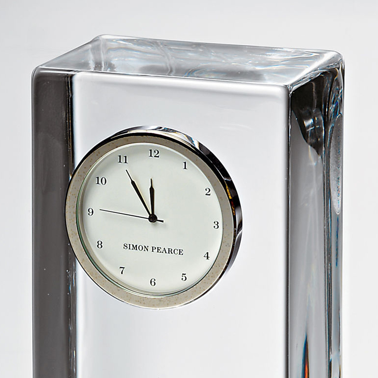 USAFA Tall Glass Desk Clock by Simon Pearce - Image 3
