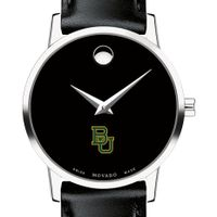 Baylor University Women's Movado Museum with Leather Strap
