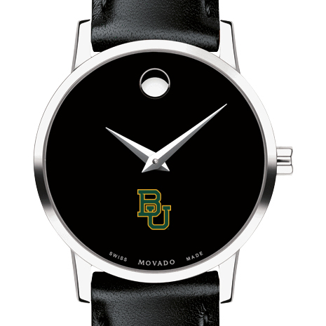 Baylor Women's Movado Museum with Leather Strap