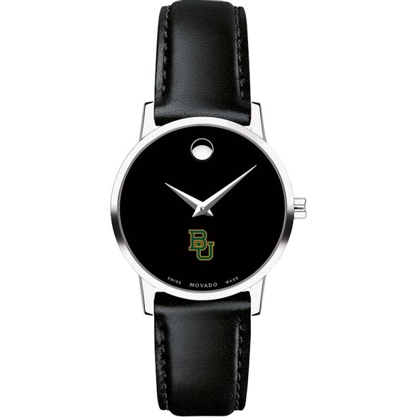 Baylor University Women's Movado Museum with Leather Strap - Image 2