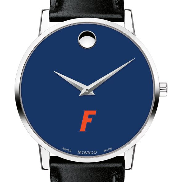 University of Florida Men's Movado Museum with Blue Dial & Leather Strap - Image 1