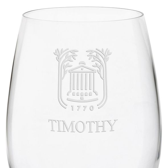 College of Charleston Red Wine Glasses - Set of 4 - Image 3
