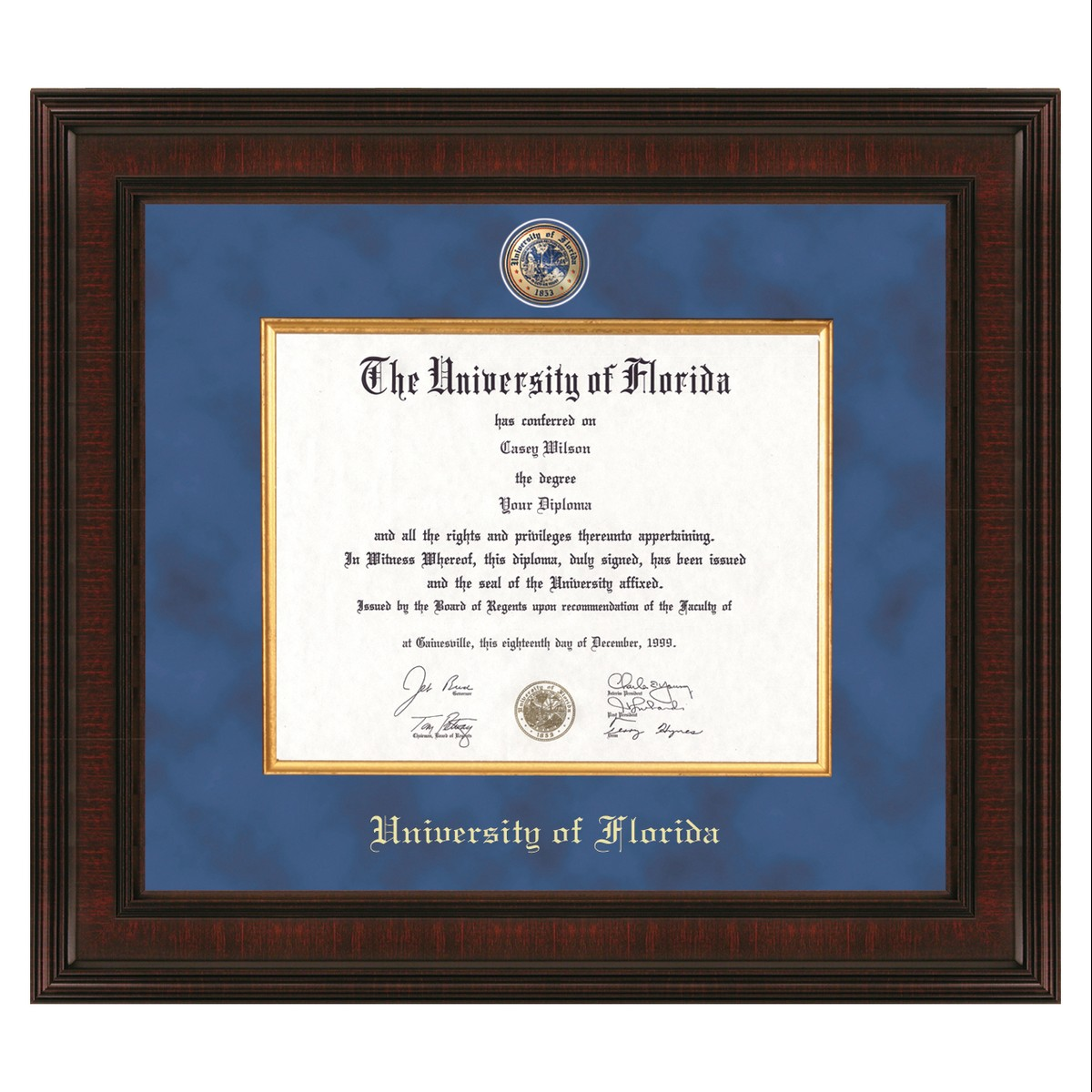 University Of Florida Diploma Frame Excelsior