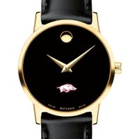 University of Arkansas Women's Movado Gold Museum Classic Leather