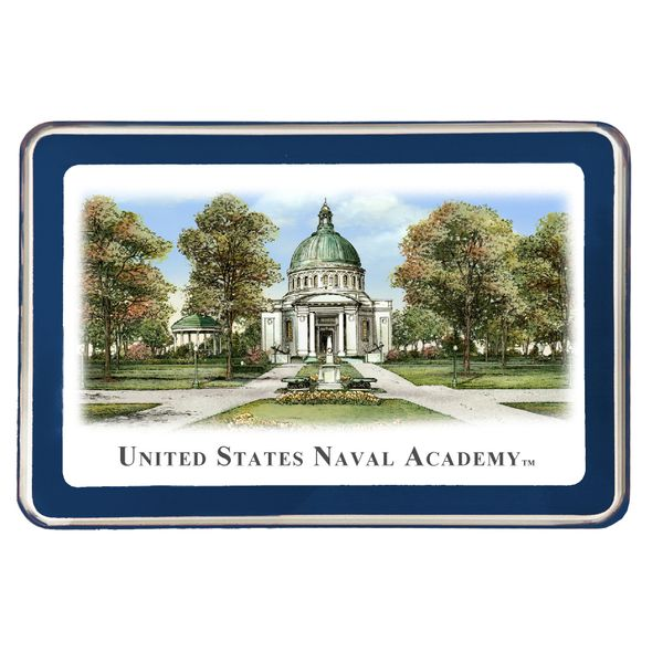 Naval Academy Eglomise Paperweight