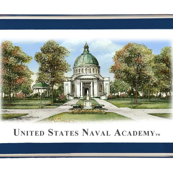 Naval Academy Eglomise Paperweight - Image 2