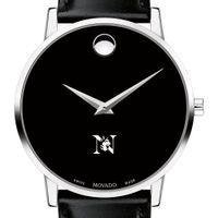 Northeastern Men's Movado Museum with Leather Strap