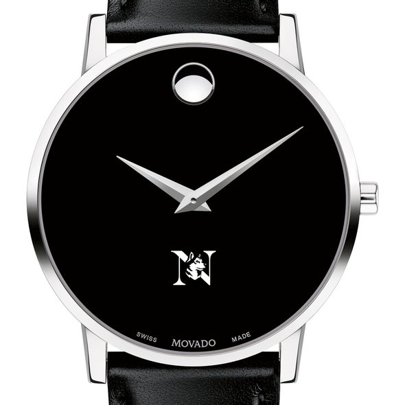Northeastern Men's Movado Museum with Leather Strap - Image 1