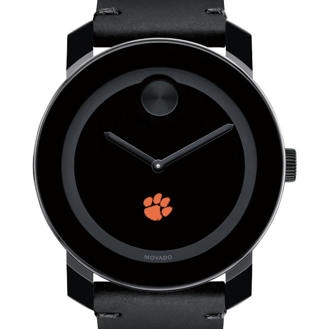 Clemson Men's Movado BOLD with Leather Strap
