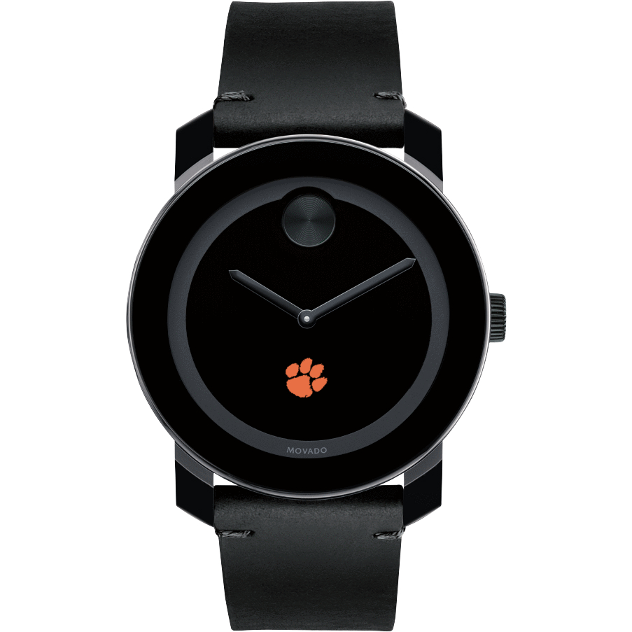 Clemson Men's Movado BOLD with Leather Strap - Image 2