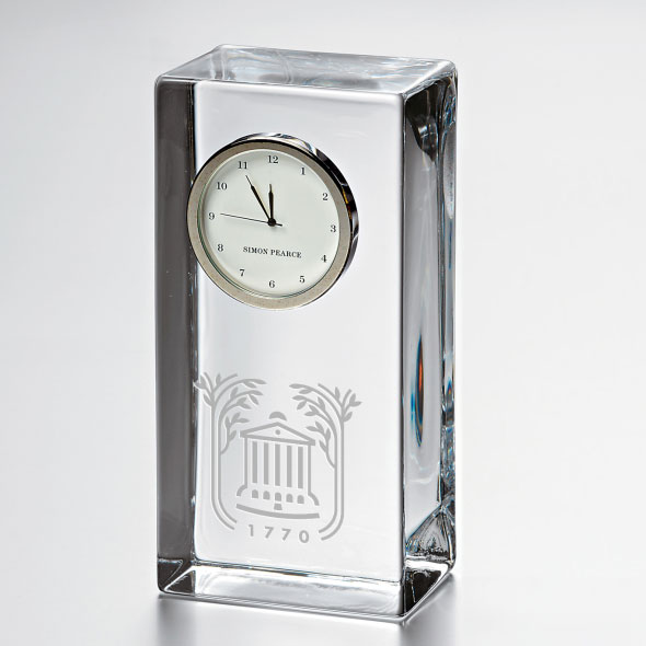 College of Charleston Tall Glass Desk Clock by Simon Pearce