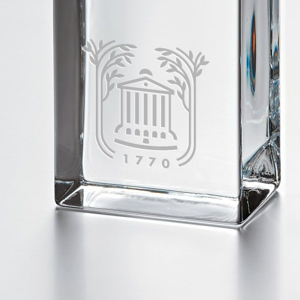 College of Charleston Tall Glass Desk Clock by Simon Pearce - Image 2