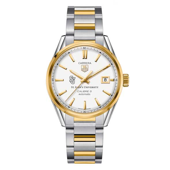 St. John's Men's TAG Heuer Two-Tone Carrera with Bracelet - Image 2