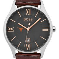 University of Texas Men's BOSS Classic with Leather Strap from M.LaHart