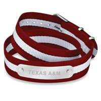 Texas A&M University Double Wrap NATO ID Bracelet