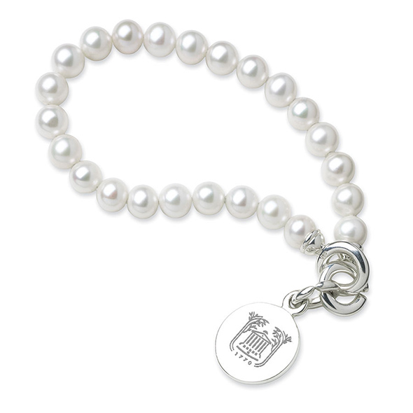 College of Charleston Pearl Bracelet with Sterling Silver Charm
