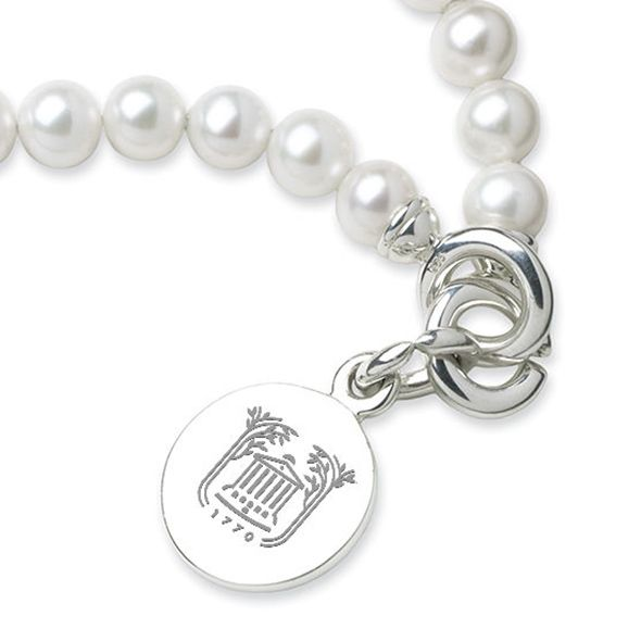 College of Charleston Pearl Bracelet with Sterling Silver Charm - Image 2