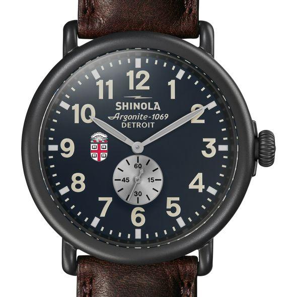 Brown Shinola Watch, The Runwell 47mm Midnight Blue Dial