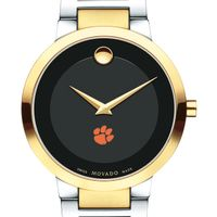 Clemson Men's Movado Two-Tone Modern Classic Museum with Bracelet